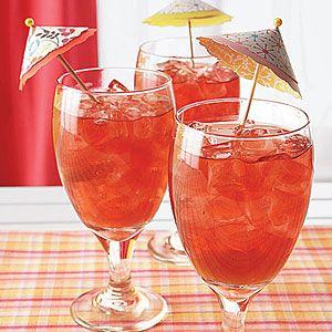 Hibiscus Iced Tea with Peaches | MyRecipes.com