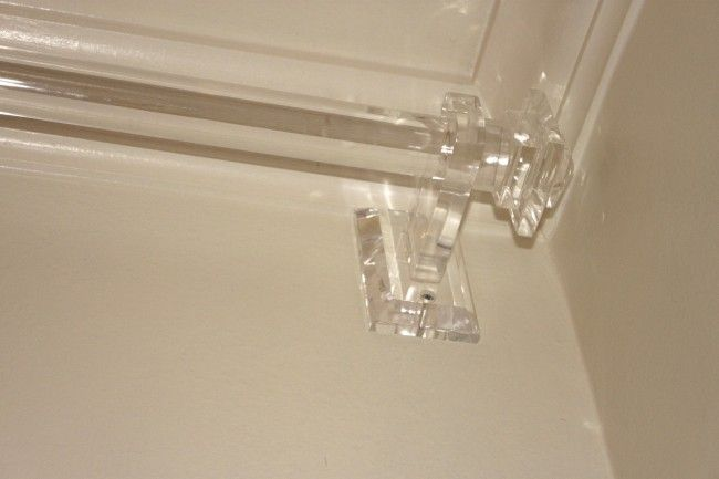 Acrylic Curtain Rods In Any Length With Finials Via House Of