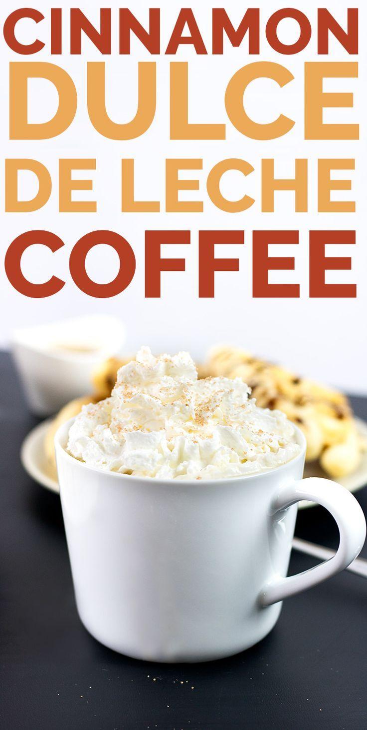 #VEGAN Cinnamon Dulce De Lech Coffee, only a couple ingredients, dairy free, glueten free - verdantcityfood.com