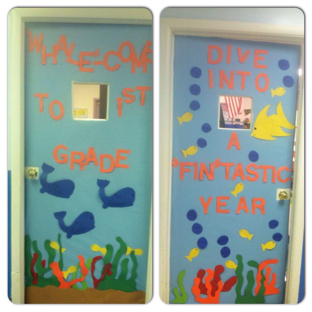 Classroom Decor Under The Sea : Back to school under the sea theme for two classroom doors