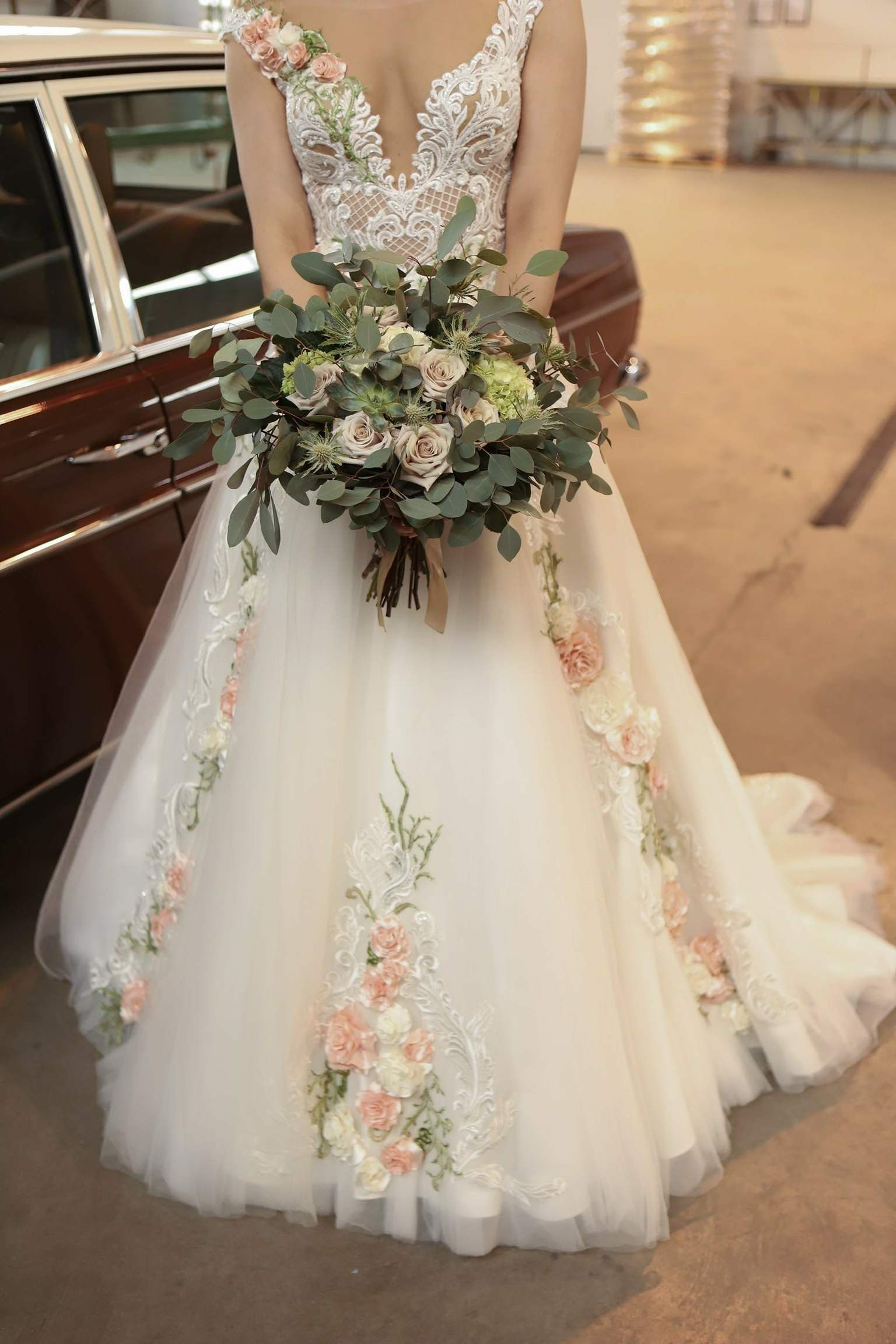 Wedding dress Rose Collection from Inga Ezergale design, until 30th of June 2020 special price 1600EUR, was 2600EUR – organisation 2