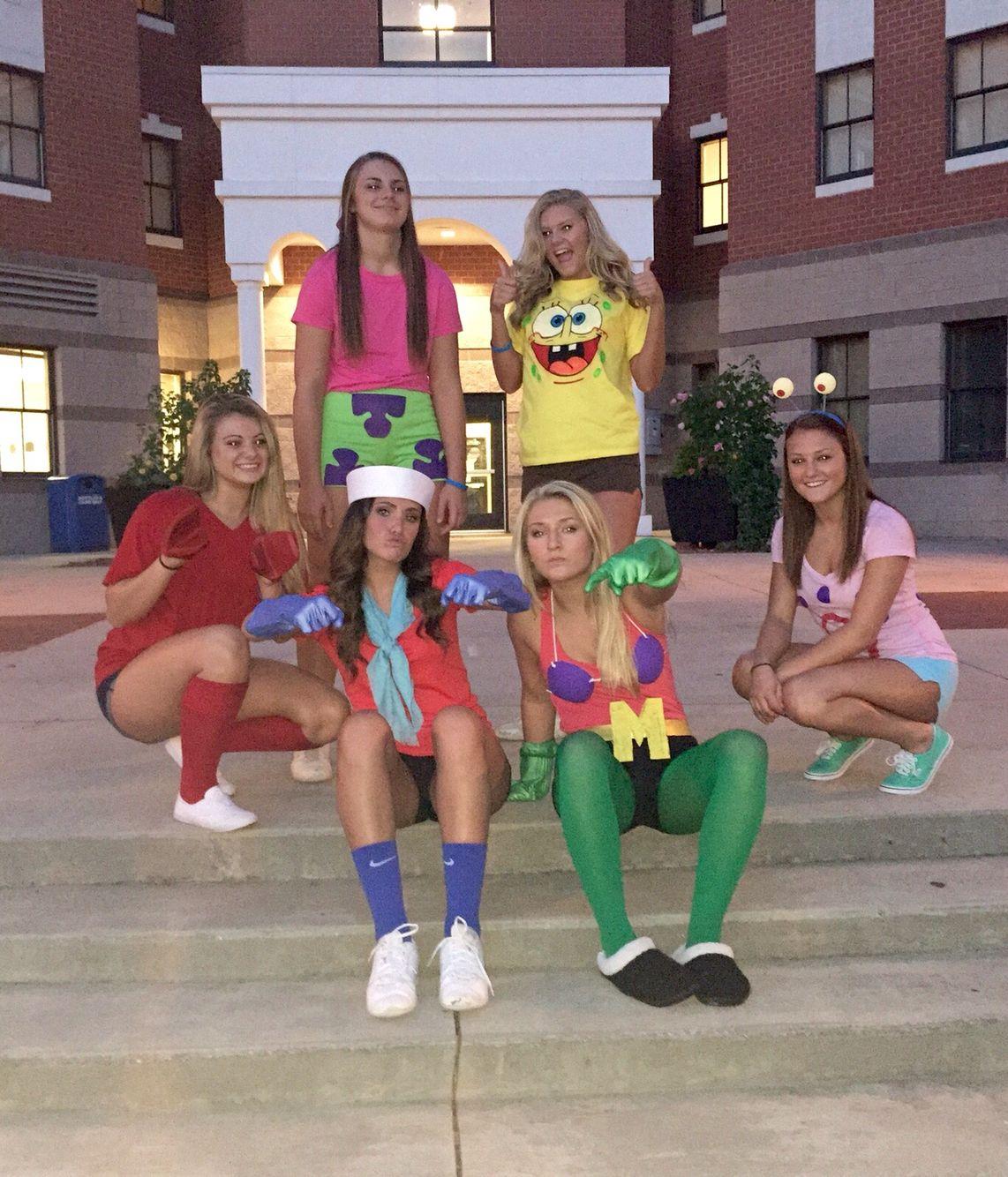 characters from spongebob squarepants! mr. krabs, pearl, ms. puff