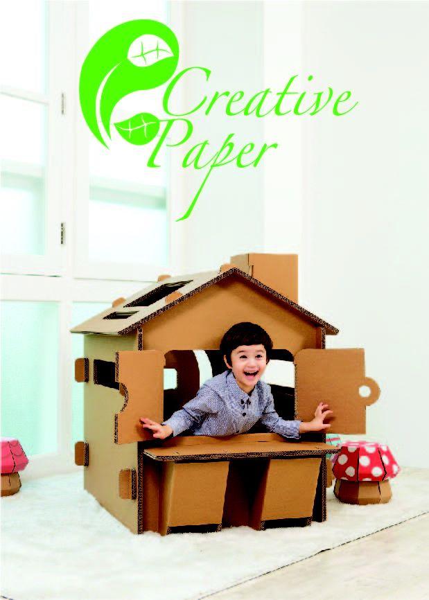 Kreative aktiviteter for barn og foreldre     Hva med å bruke tiden sammen med barna og lage enkle og morsomme møbler?  Det skaper nærhet og samhold i familien når far, mor og alle barna går sammen om å bygge og tegne morsomme bilder på de ferdige kartongmøblene.    Trygge møbler utviklet gjennom grundig og gjennomtenkt vurdering.    Kartongmøblene fra Creative Paper er laget av god og solid bølgepapp.