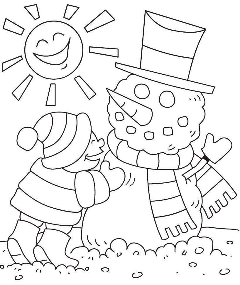 Winter Colouring Pages For Preschoolers | Эскизы | Pinterest