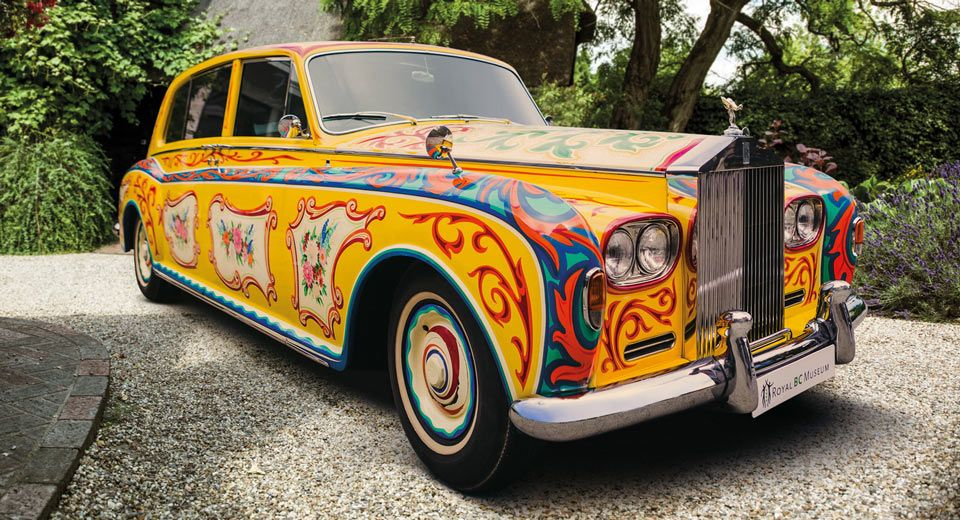 John Lennon's Psychedelic Rolls-Royce Phantom V Returns To London [w/Video]