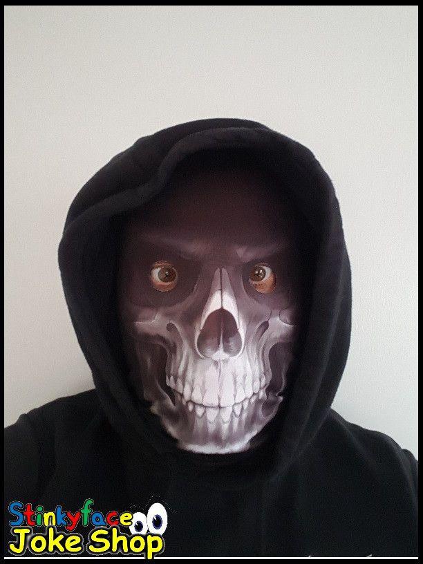 Grim Reaper White Skeleton Face Mask