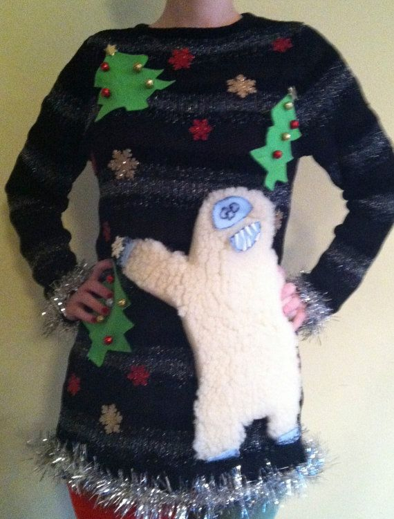 Abominable Snowman Bumble  Ugly Christmas by SuburbanRefitters, $55.00