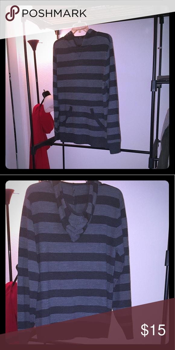 Casual Mens sweater Dark Grey & Light Grey Hooded front pocket mens pull over Shirts Sweatshirts & Hoodies