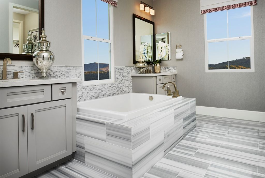 Soak in this GORGEOUS #TileTuesday installation by Richmond American ...