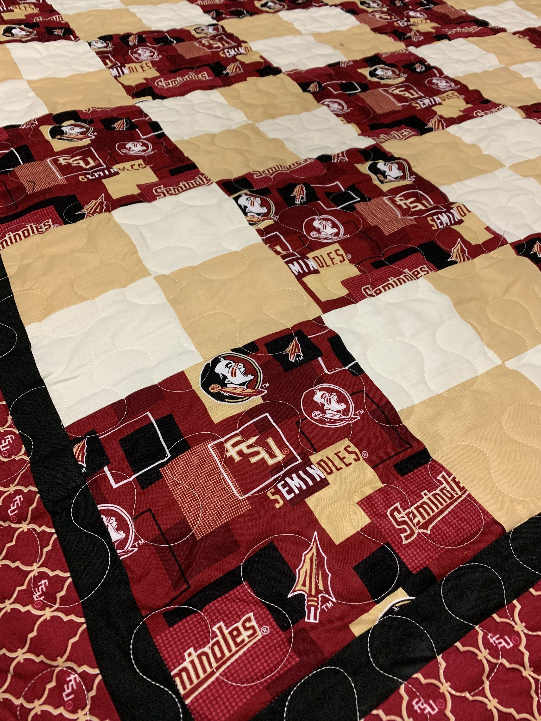 Florida State Seminoles Quilt Quilts Quilting Frames Machine Quilting