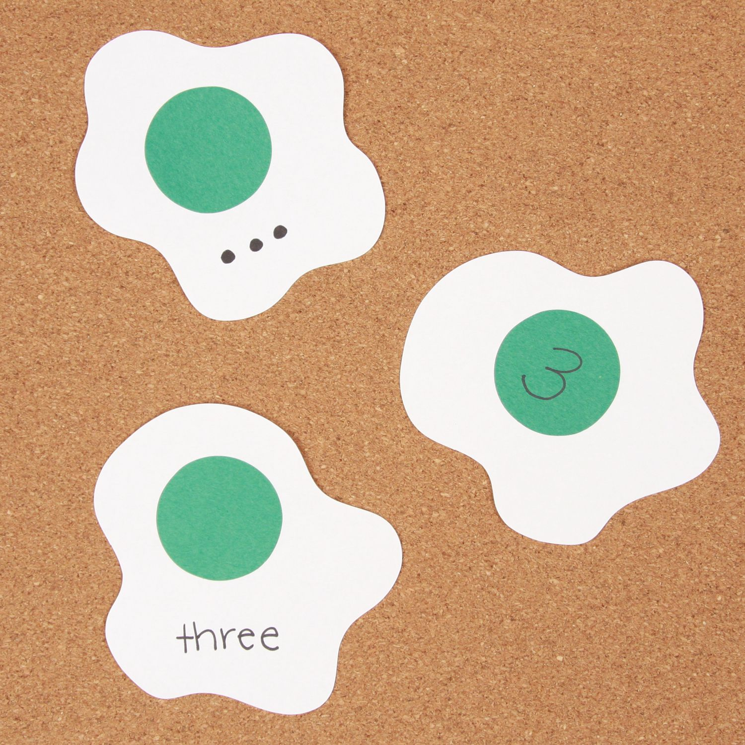 Number Matching Game With Green Eggs Using The Ham Die From AccuCut