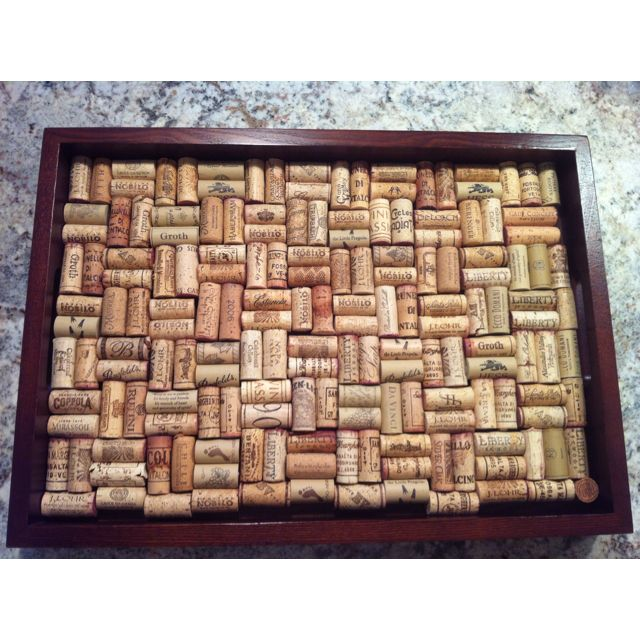 Wine Cork Tray Have Just Enough Corks Left Over To Make Coasters