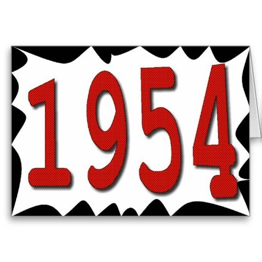 Happy Birthday 1954 Year Of Birth 50s Fifties Greeting Cards