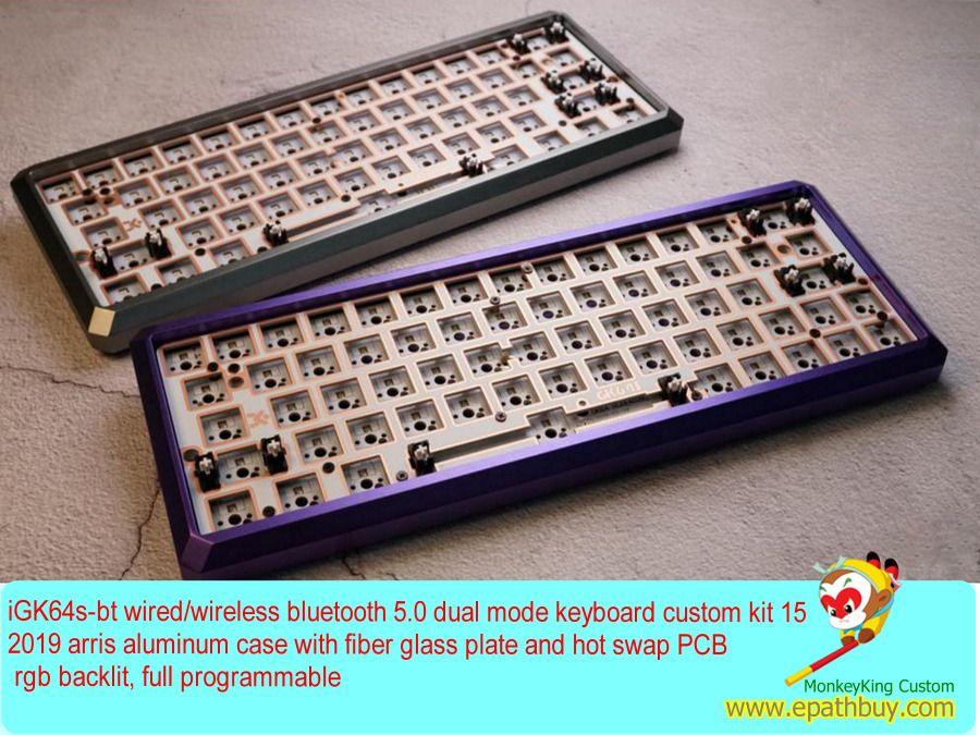 60 Aluminum Mechanical Keyboard Diy Kit Custom Wireless Hot Swap Barebones Kit Diy Kits Keyboard Diy
