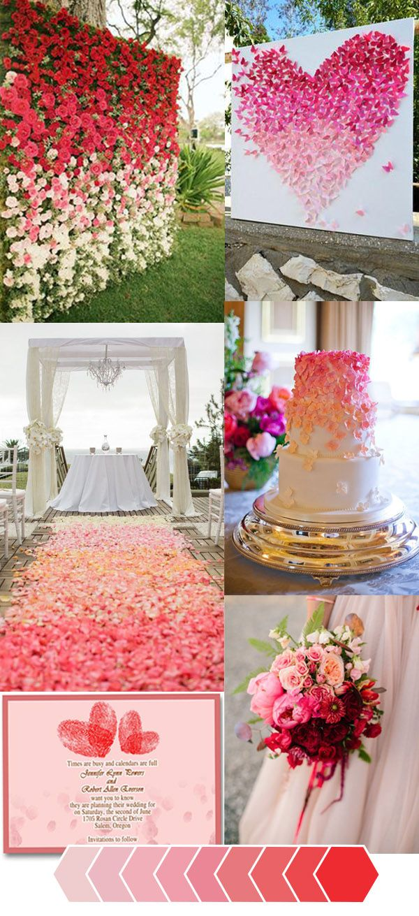 How to Make Your Wedding Color Unique in an Ombr Theme Red