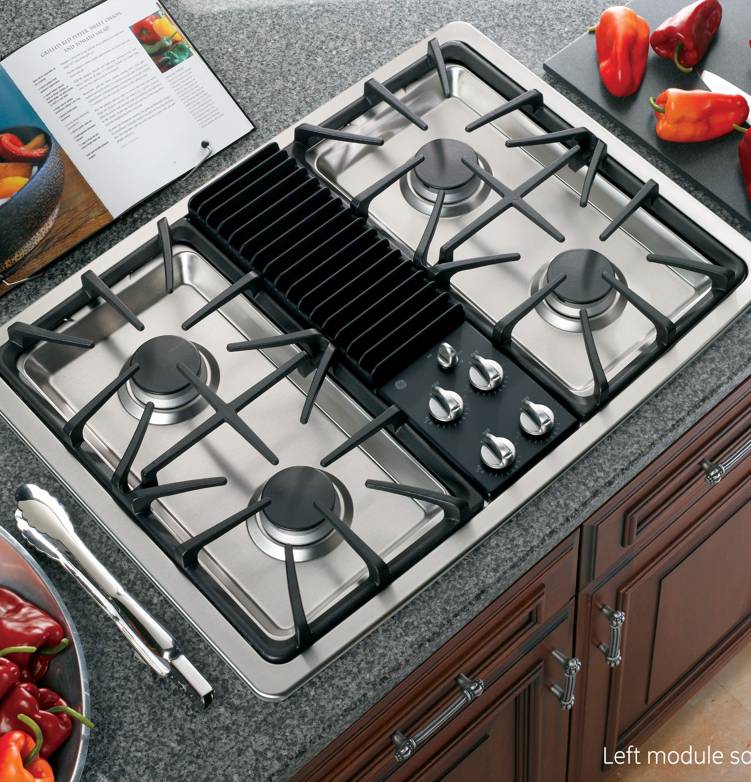Gas Stove Top With Pop Up Vent Google Search Island With Stove Kitchen Island With Stove Unique Kitchen