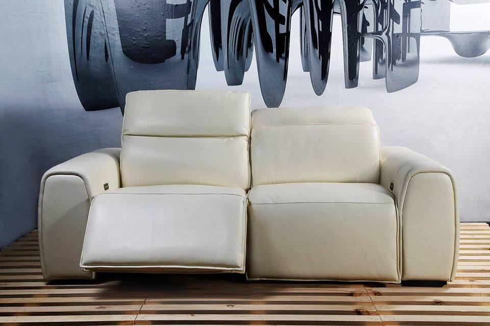 Weisse Leder Liege Sofa