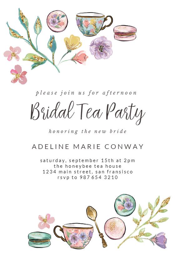 Tea Party Bridal Shower Invitation Template Free Greetings Island Bridal Shower Invitations Diy Tea Party Bridal Shower Bridal Tea Party
