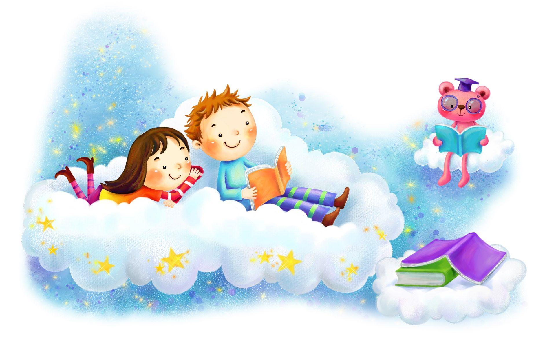 Fête Des Enfants Fonds D écran 1920x1200 Cute Cartoon Pictures Book Wallpaper Cute Couple Cartoon