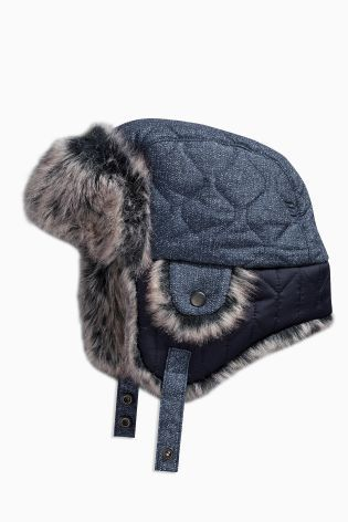 90b9ba3df1379 Buy Navy Quilted Trapper Hat (3mths-6yrs) online today at Next  Canada