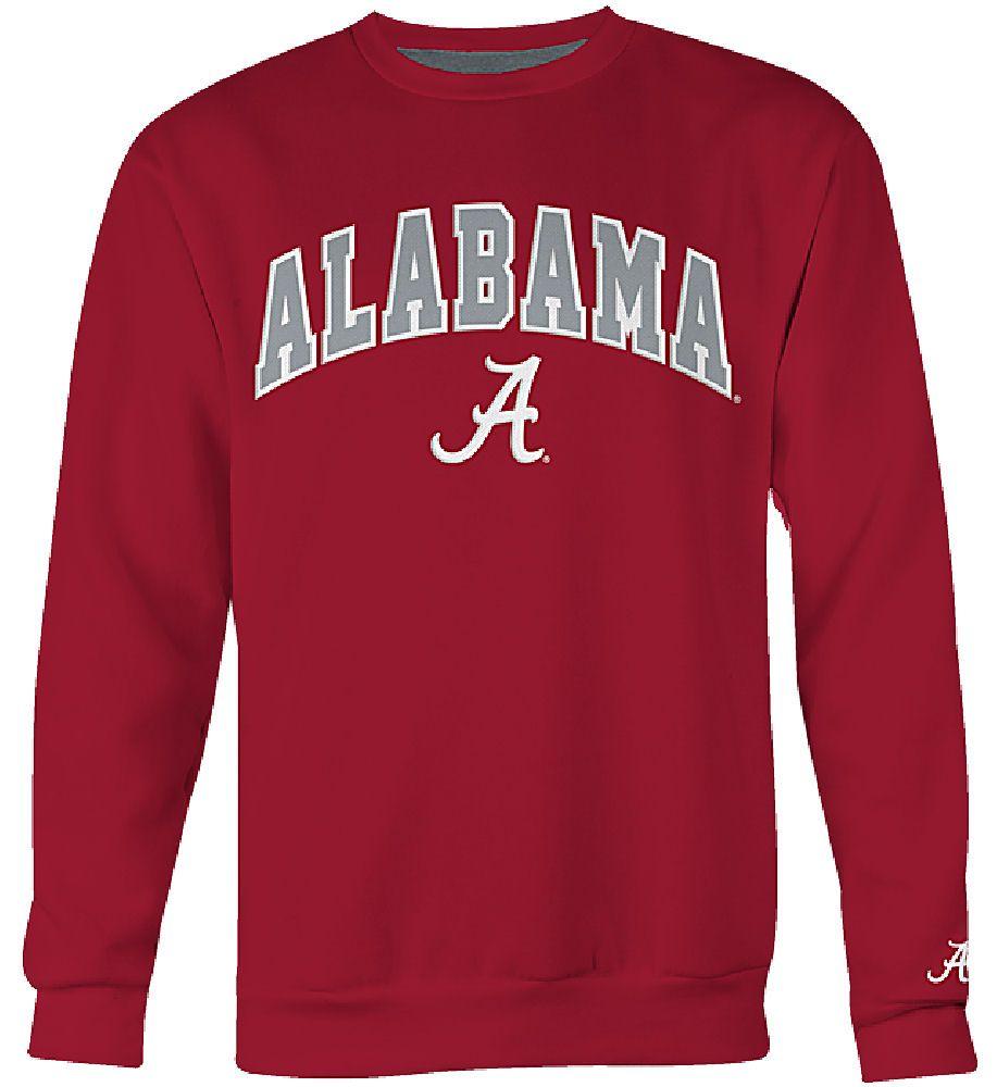 Alabama Crimson Tide Mens Crimson Embroidered College Classic Crewneck Sweatshirt Alabama Sweatshirt Sweatshirts Alabama Clothes [ 1000 x 917 Pixel ]