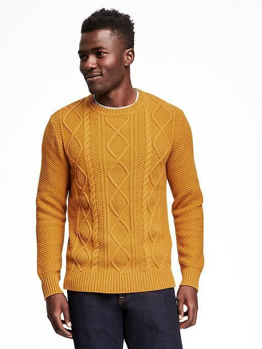 Textured Cable Knit Sweater For Men Old Navy Men Sweater Stylish Sweaters Winter Wear For Men