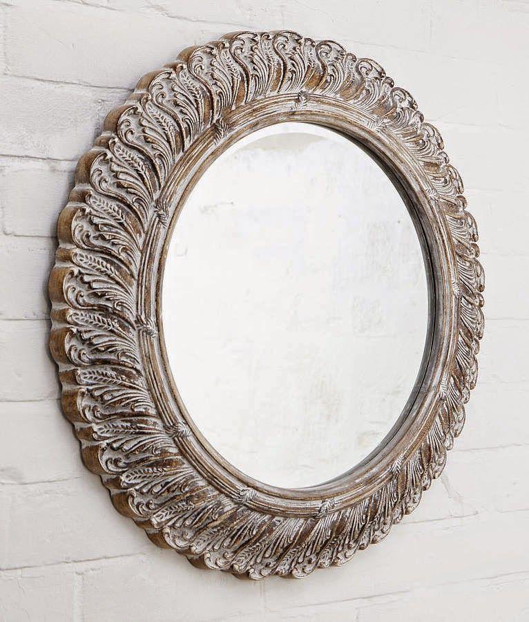 10 espejos vintage para una decoraci n de poca espejos - Espejos marco madera ...