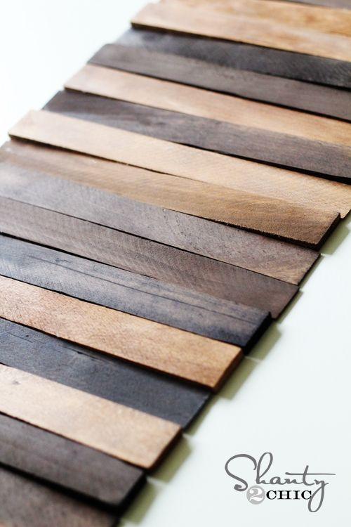 Wood Shim Table Runner Diy Table Runner Diy Wood Placemats Diy