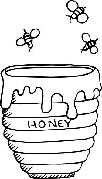 jar of honey colouring pages Ain