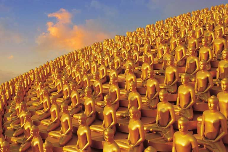 Wat Phra Dhammakaya Thailand The Cupola The Million Gold Buddhas