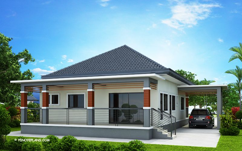 Miranda Elevated 3 Bedroom With 2 Bathroom Modern House Pinoy Eplans Affordable House Plans Elevated House Plans Modern Bungalow House