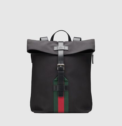 b8d5634c6465 Gucci - black techno canvas backpack 337075KWT6N1060 | Purses, Tote ...
