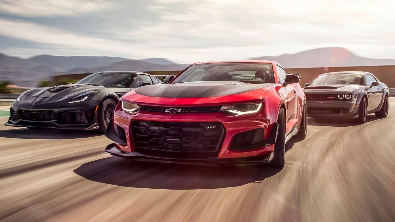 Corvette Zr1 Vs Camaro Zl1 Vs Dodge Demon Top Gear