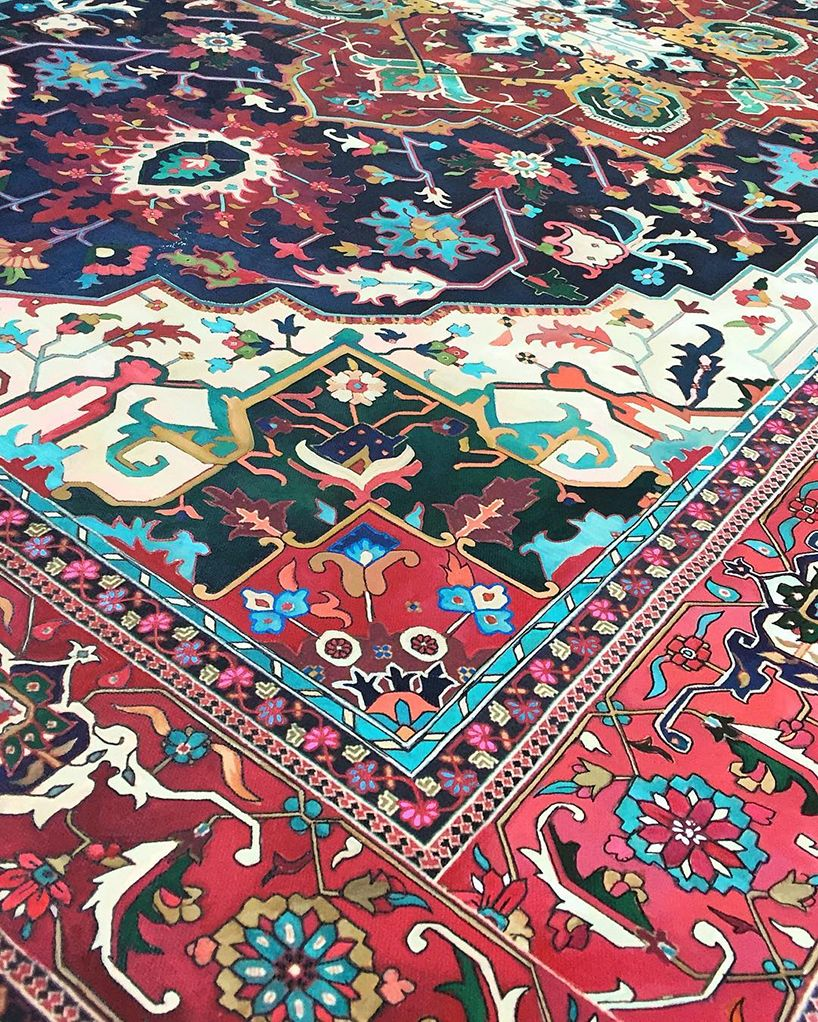 Jason Seife S Painted Persian Carpets Are Impossibly Ornate Painted Rug Persian Carpet Persian Art Painting