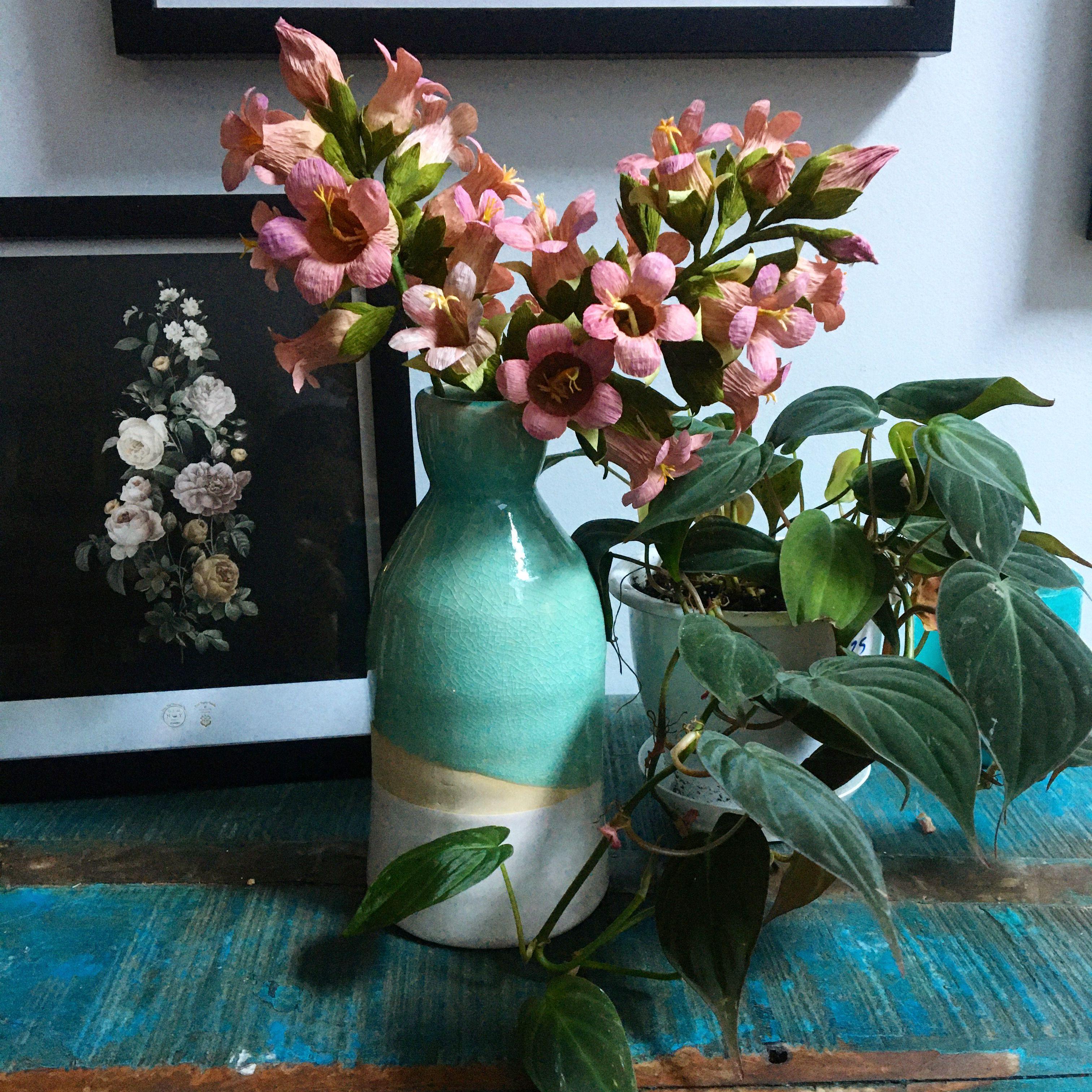 Handmade Flowers Canterbury Bells In Paper In 2020 Paper Bouquet Handmade Flowers Forever Bouquets