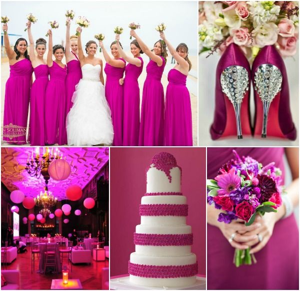 Sangria pink wedding party theme ideas read more www for Best wedding colour themes
