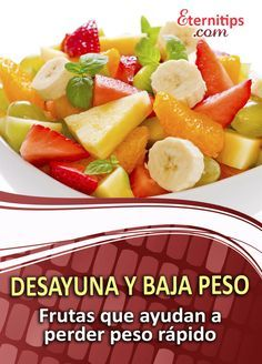 Alimentos desayunos para adelgazar