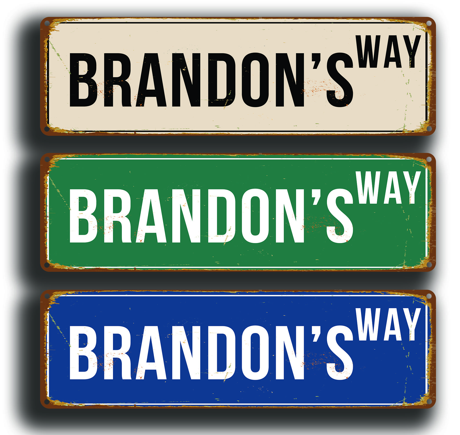 Personalized Street Signs >> Custom Street Signs Vintage Style Signs Custom Street Signs