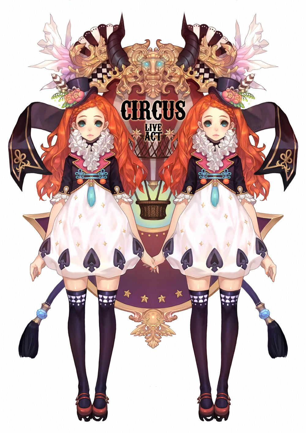 circus girls by olivia830 ピエロ イラスト マンガアート 插画