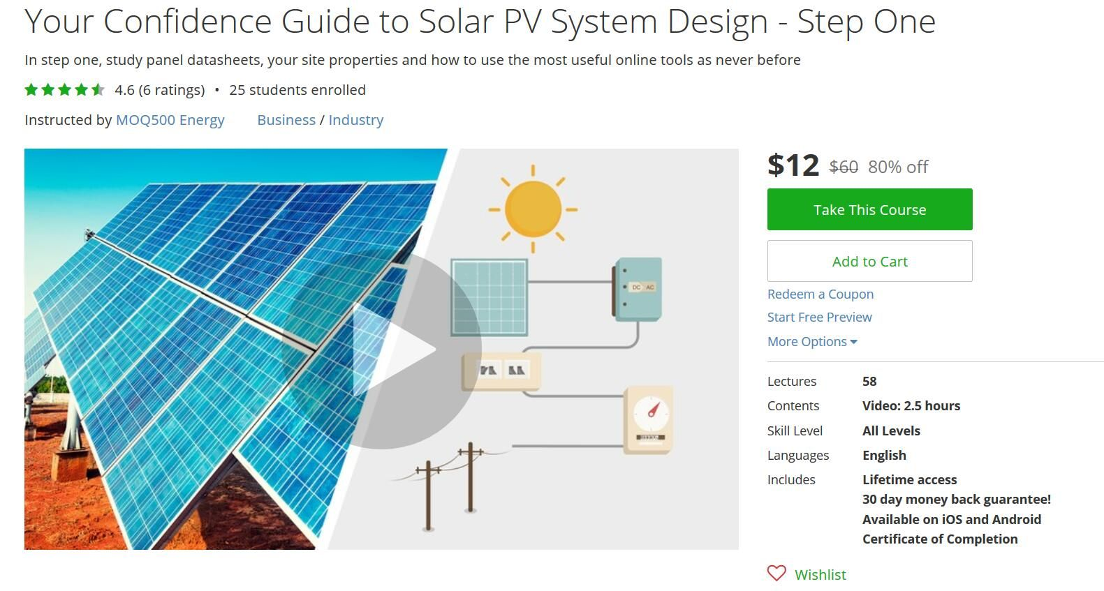 The Longest And Most Comprehensive Course On Udemy About Solar Pv