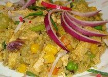 Tofu s kuskusem a zeleninou