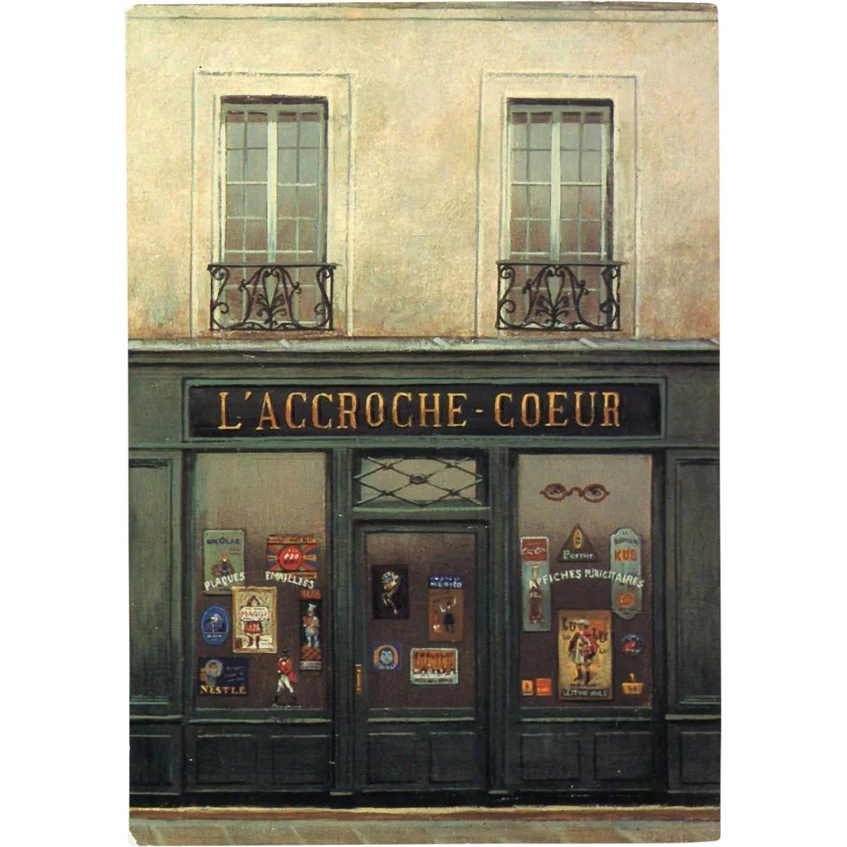 L Accroche Coeur Poster And Sign Storefront By French Painter