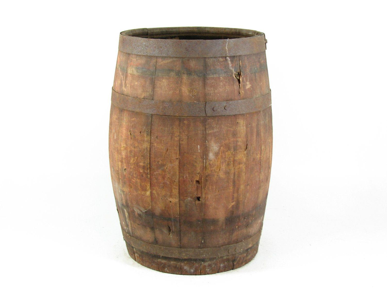 Vintage Wood Barrel Wooden Nail Keg Diy Table Base Wine