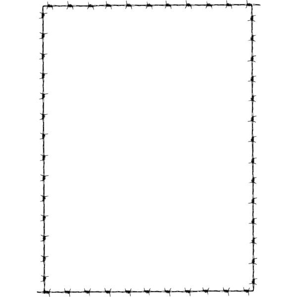 Barbed Wire Border ❤ liked on Polyvore featuring borders, filler ...