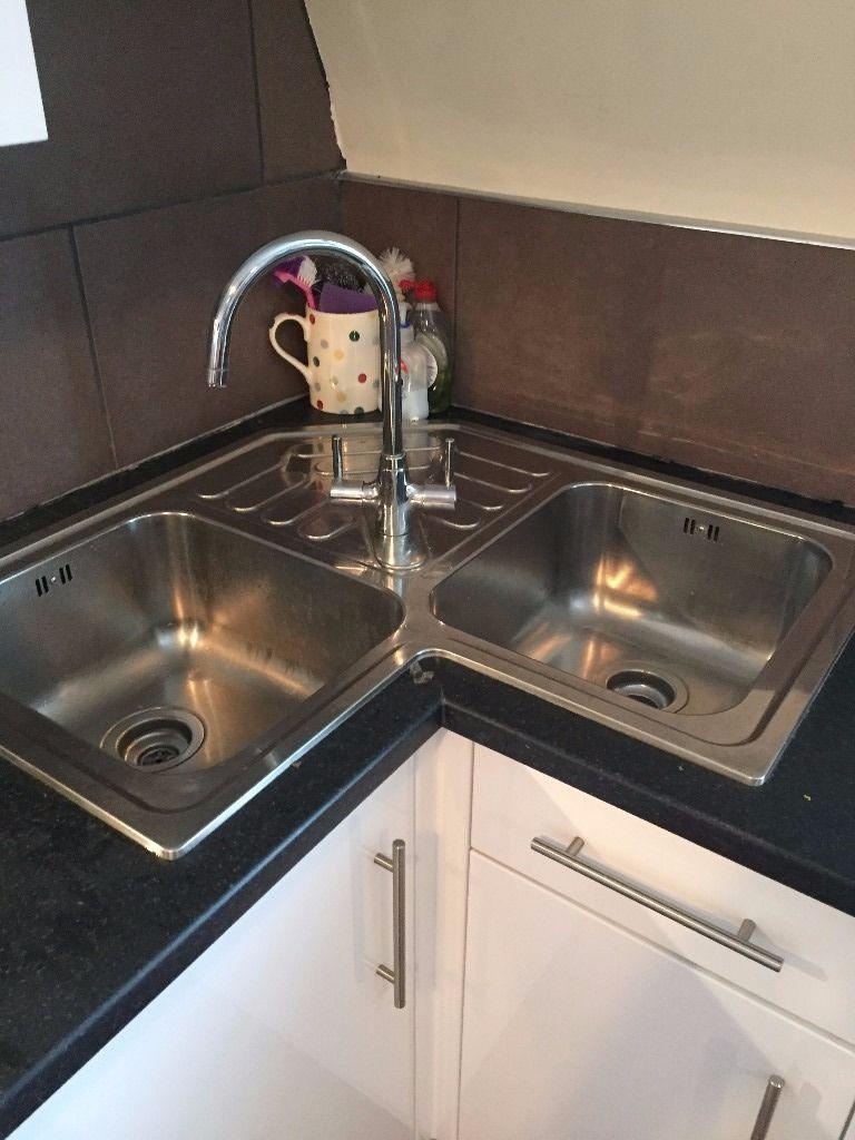 Pin By Paula Phillips On Decorating My Next House Corner Sink Kitchen Kitchen Sink Design Kitchen Design