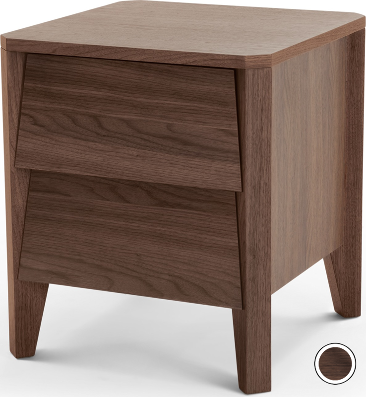 Mara Bedside Table Walnut From Made Com Dark Wood Our In House