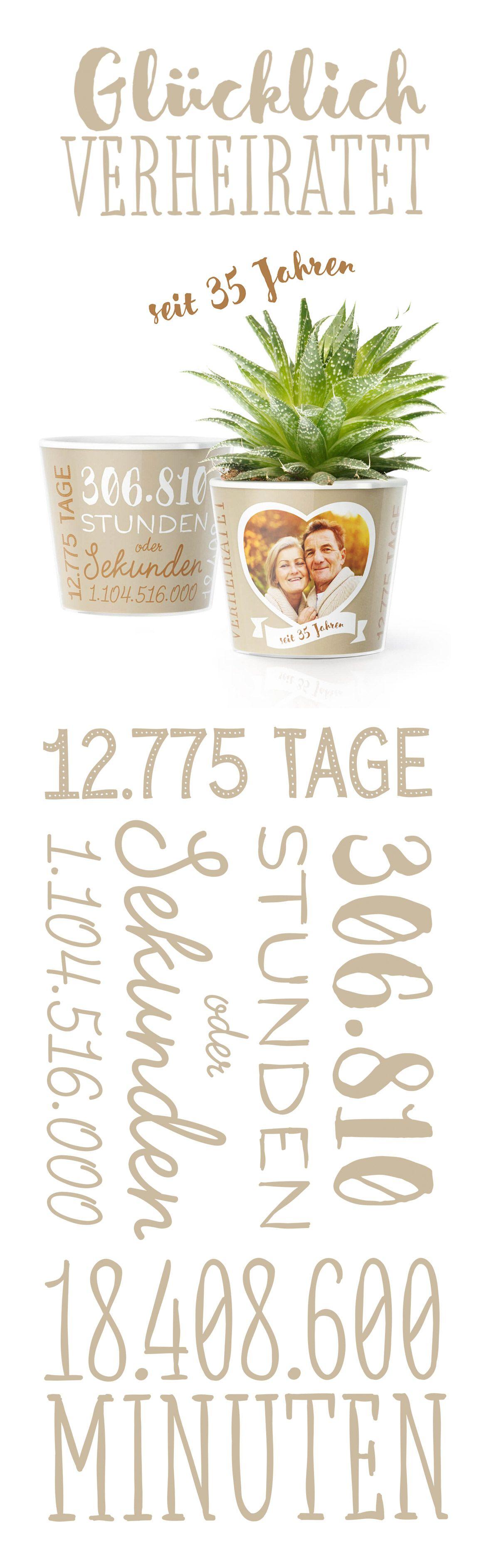 Geschenke Und Deko Zum 35 Hochzeitstag Leinwandhochzeit