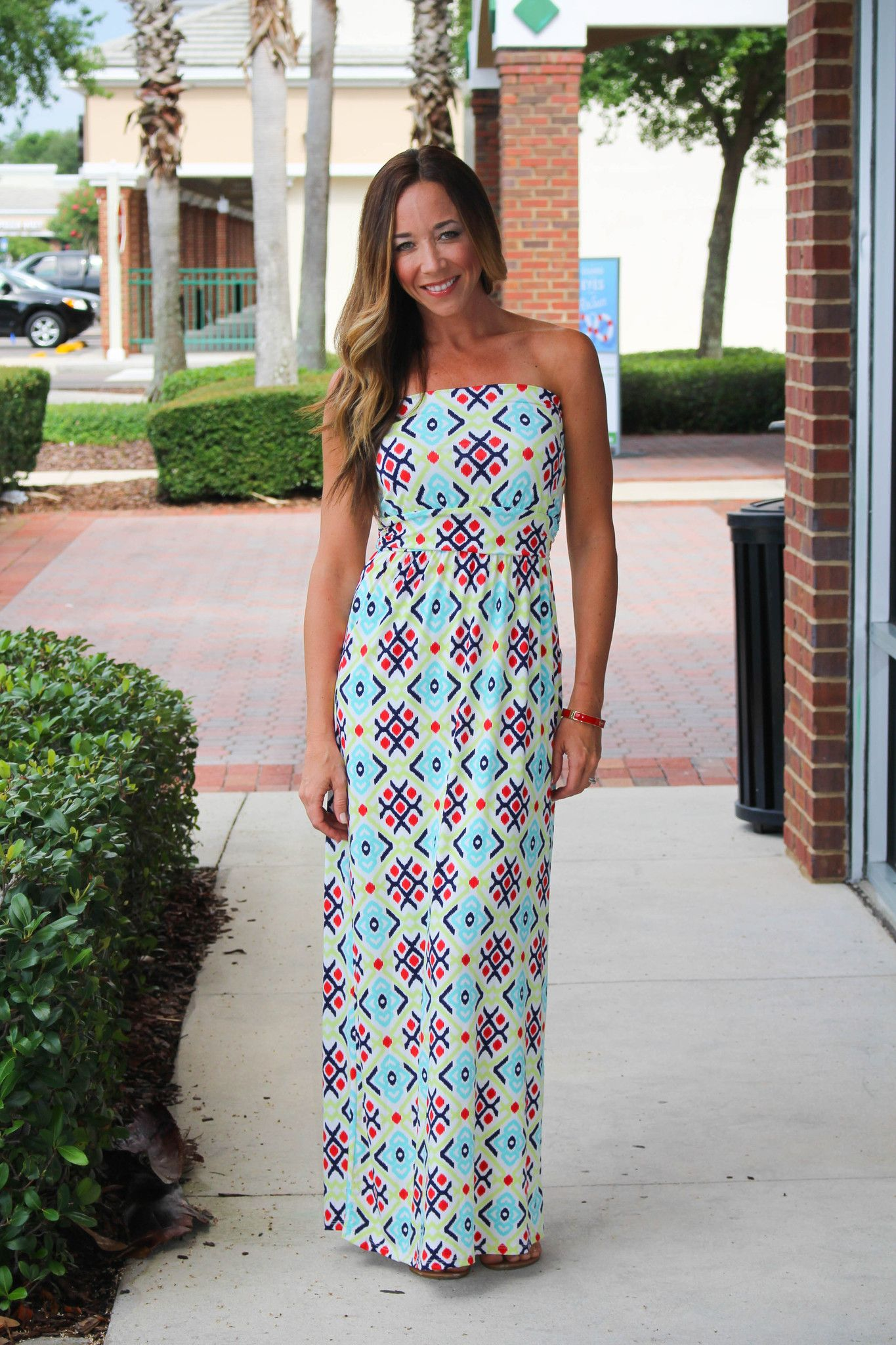 3ff6a0b4331b Double Take Maxi Dress - Lime Navy from Chocolate Shoe Boutique ...