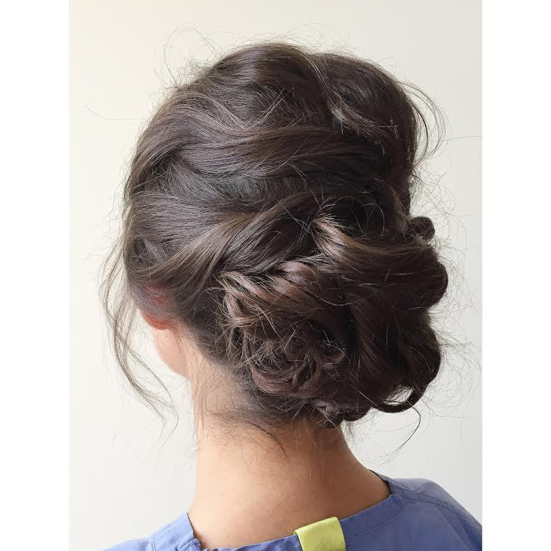 Wedding Hairstyle Nashville: Romantic Wedding Updo By Andrea #salonnfuse #nashville