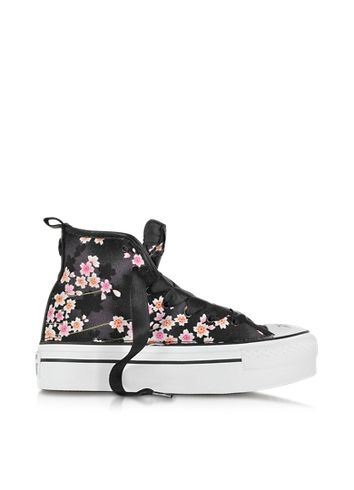 all star converse nere con zeppa
